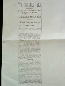 Perrenoud Building Announcement 1901